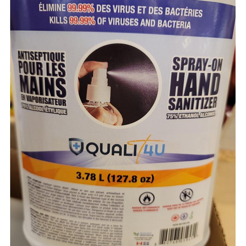 hand sanitizer 75% alcohol