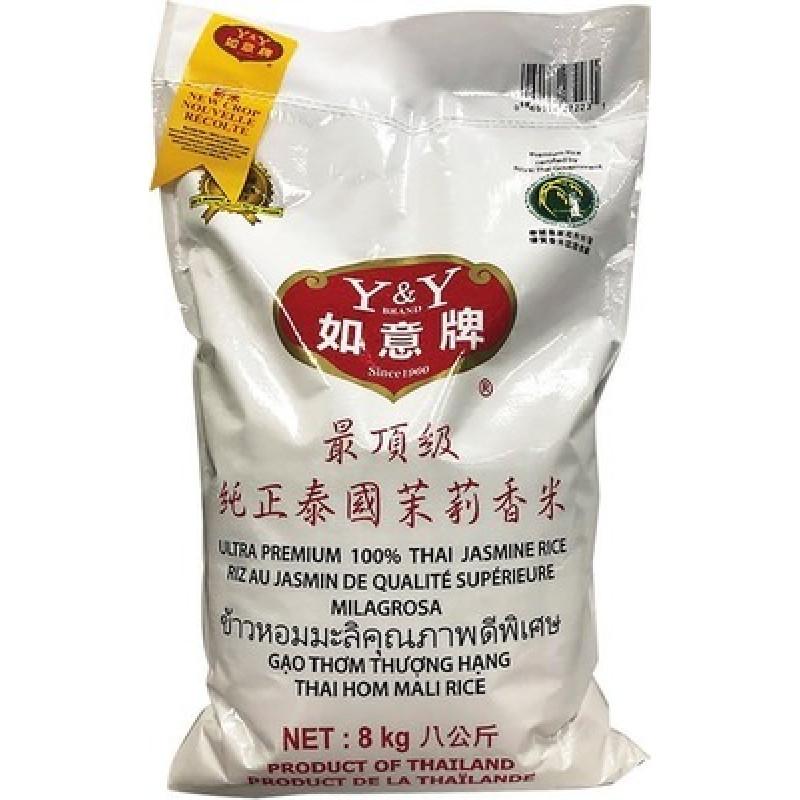 Y&Y:Ultra premium 100% thai jasmine rice-8kg