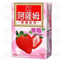 Assam milk tea strawberry flavor-6 bottles