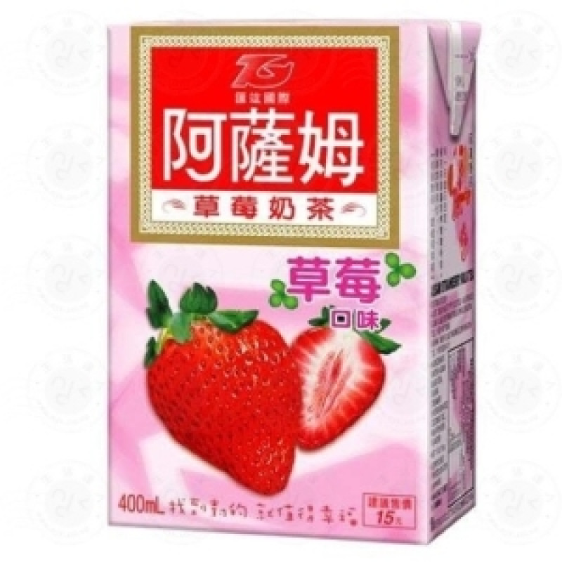 Assam milk tea strawberry flavor-6 bottles