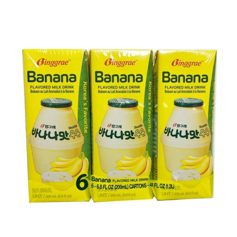 BINGGRAE BANANA FLAVORED MILK DRINK(6PCS)