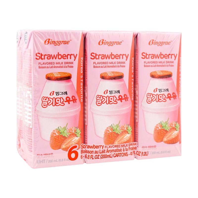 Strawberry Flavored Milk Drink 6packs