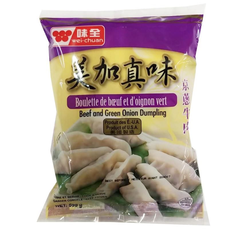 WeiChuan Beef and Green Oninon Dumplings