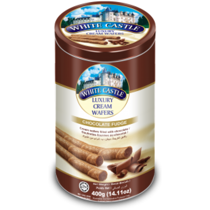 White Castle Luxury Cream Wafers With Chocolate Flavour