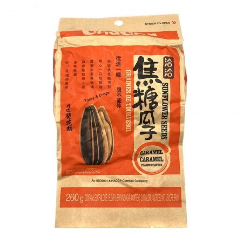 ChaCha Sunflower Seeds-Caramel 260g