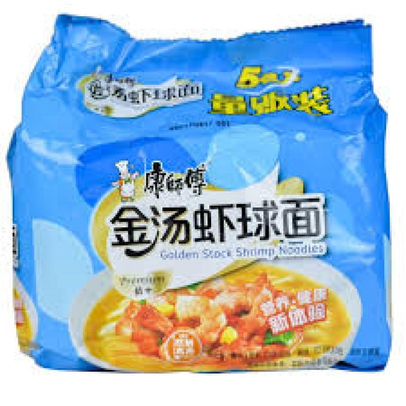 Golden stock shrimp noodles