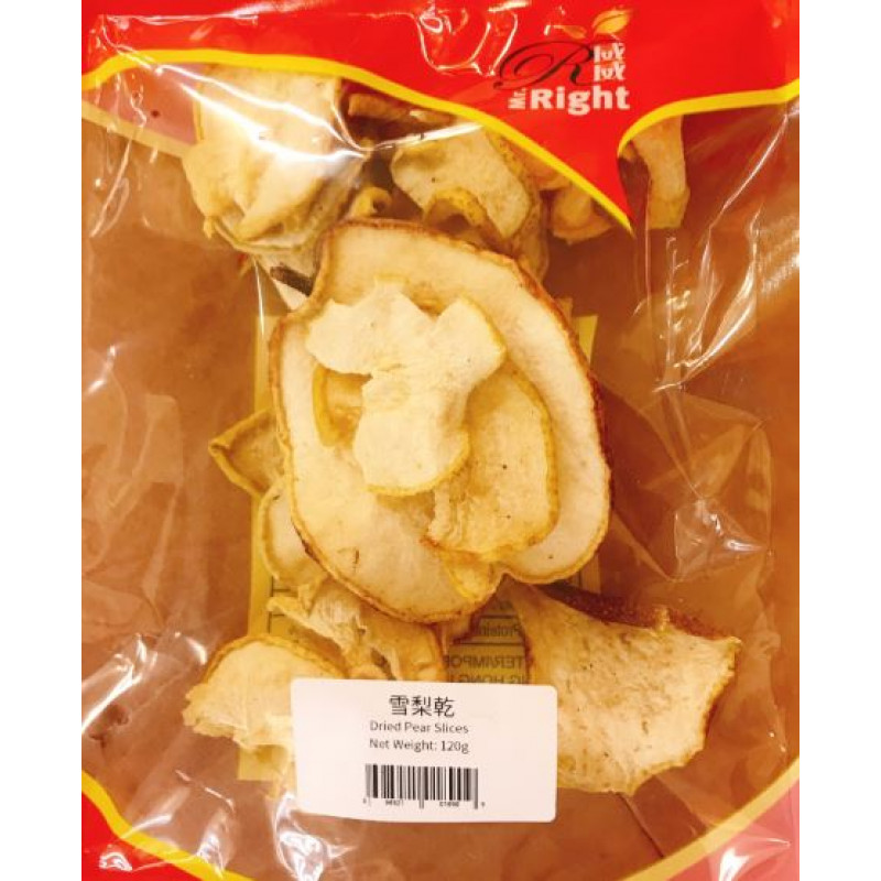 Dried pear slices