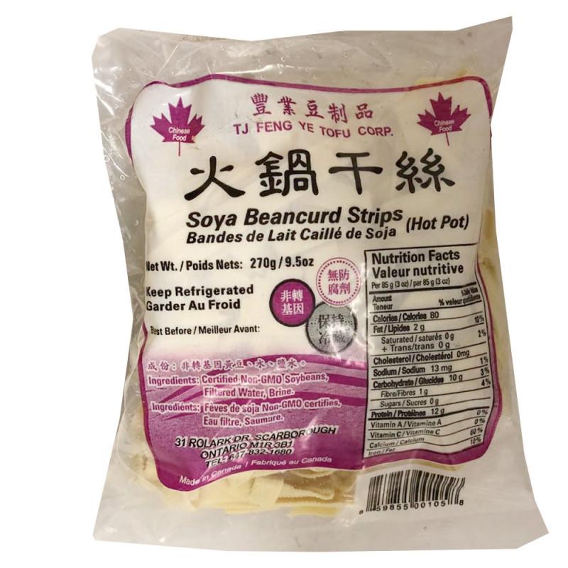 Soya bean curd strips