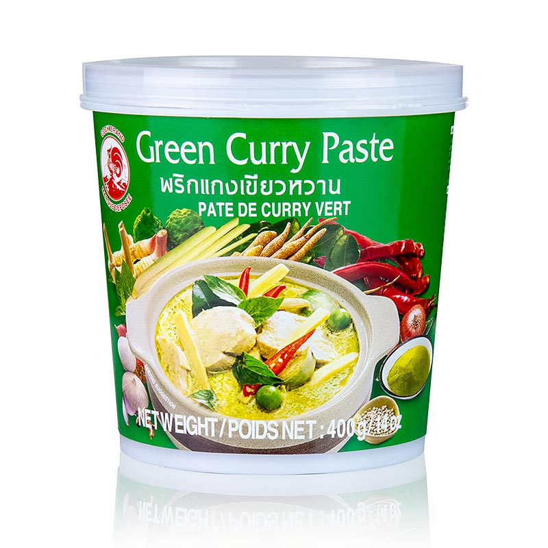 COCK BRAND: Green Curry Paste-400g