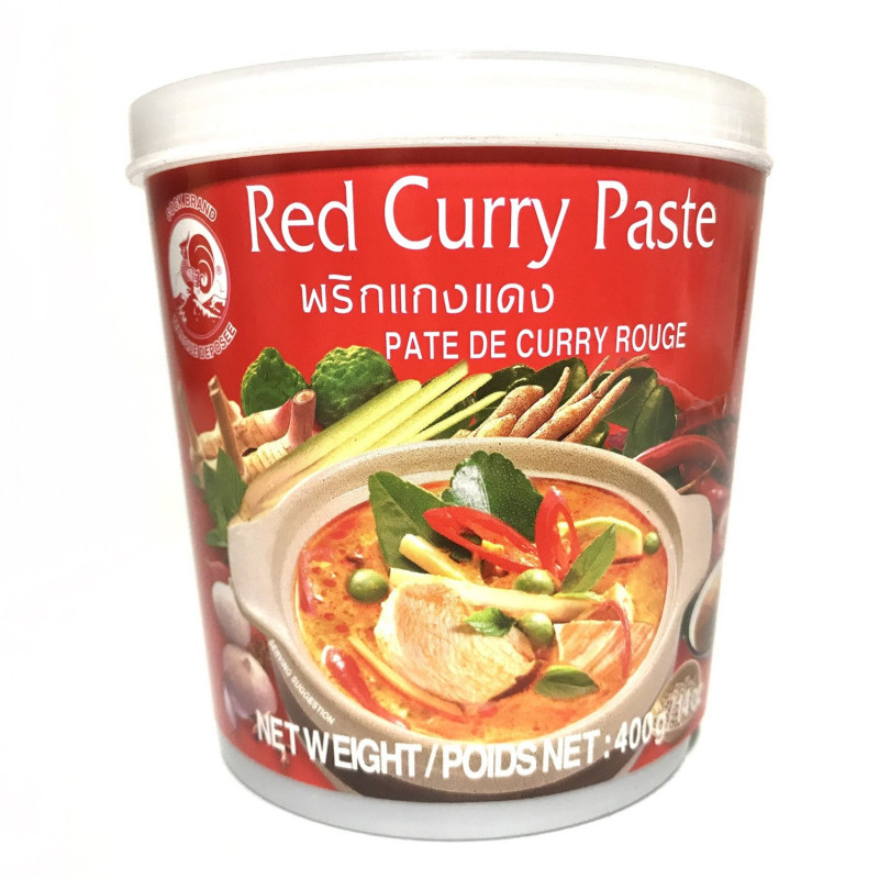 COCK BRAND: Red Curry Paste-400g