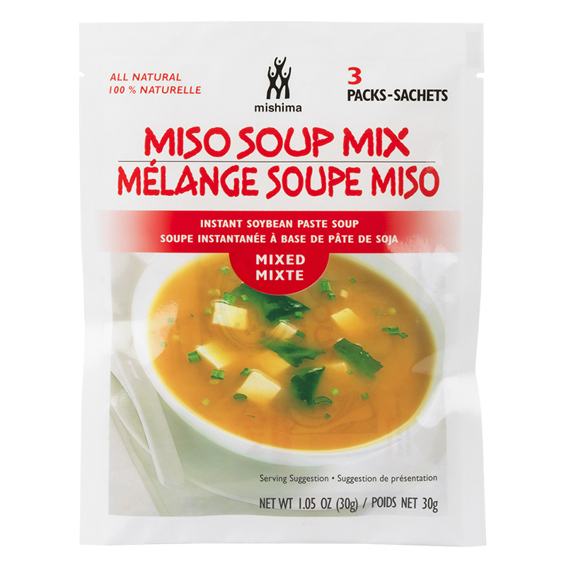 Mishima: Miso Soup Mix Instant Soybean Paste Soup(Mixed)-3packs