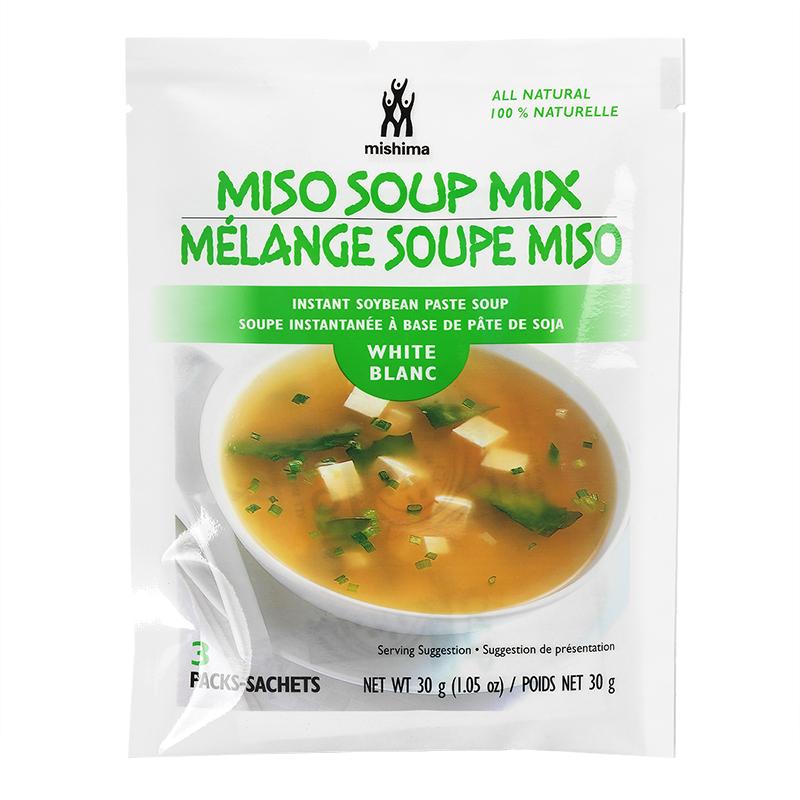Mishima: Miso Soup Mix Instant Soybean Paste Soup(White)-3packs