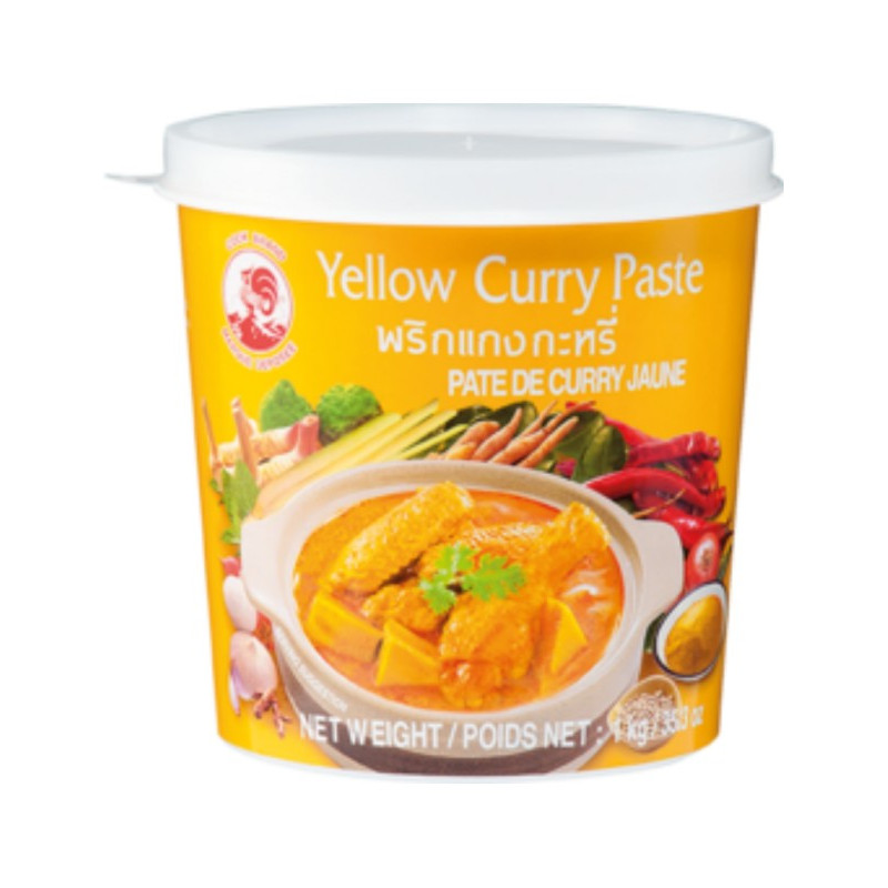 COCK BRAND: Yellow Curry Paste-400g